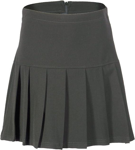 Falda plisada para niñas, de escuela gris gris: Amazon.es: Ropa y ...