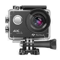 """4K Action Kamera WIFI 170°Weitwinkel Helmkamera Unterwasserkamera -VON Tonbux- 4K HD / 2 """"HD-Bildschirm / Wasserdicht 30M / 2x1050mAh Akku / 20 Zubehör / für Tauchen, Motorrad, Fahrrad fahren und Schwimmen"""