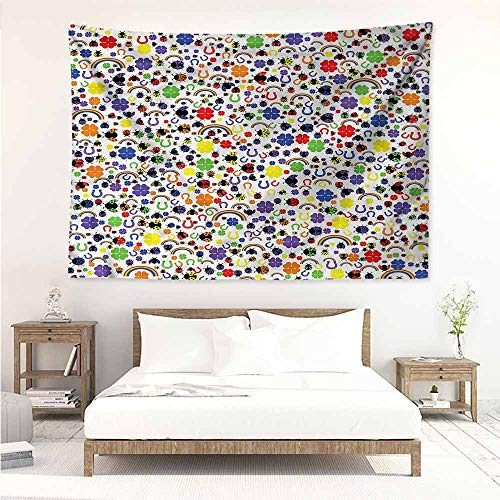 Sunnyhome Big Tapestry,Horseshoe Lucky Charms Ladybird,Large Tapestry,W90x59L
