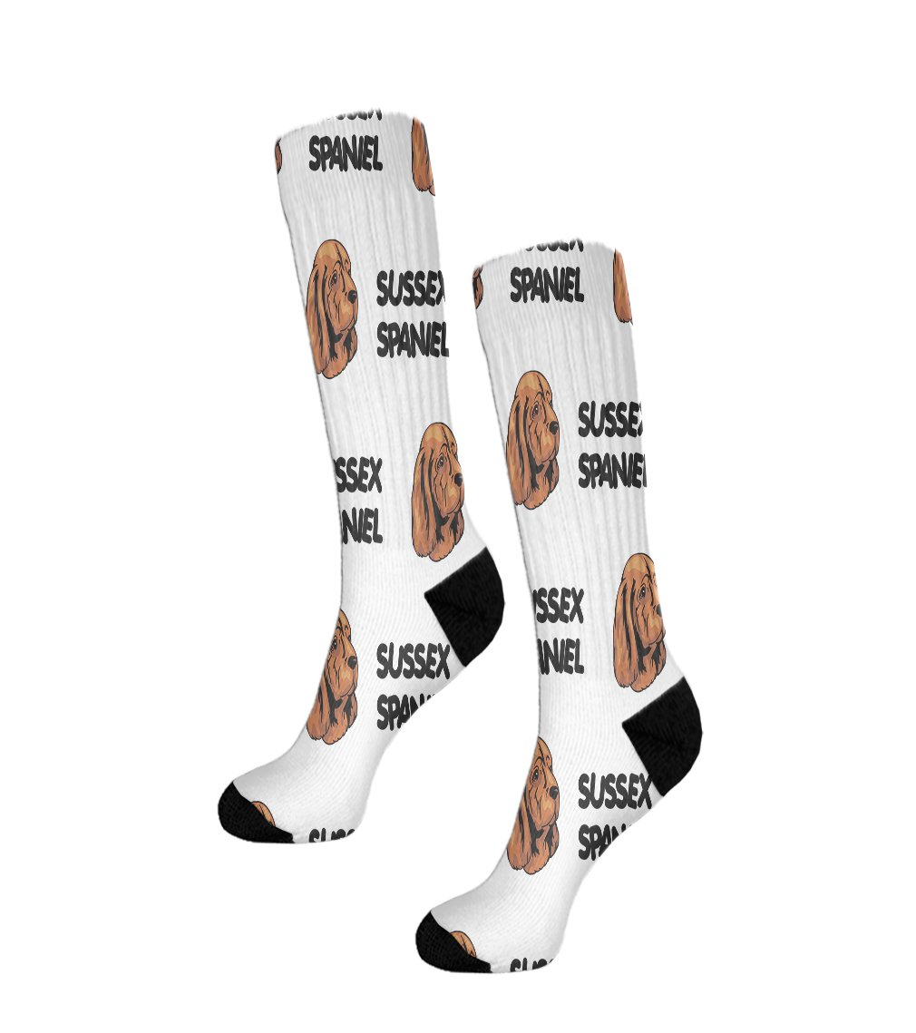Funny Mens Socks Sussex Spaniel Dog Breed Style A Polyester Crazy Socks Womens 1