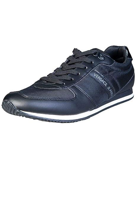 Versace Jeans Nylon Lace Hombre Zapatillas Negro: Amazon.es: Zapatos y complementos