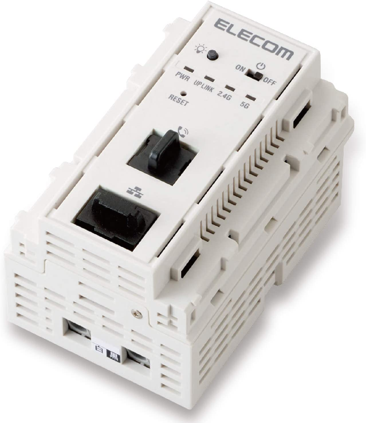 エレコム WiFi 無線アクセスポイント 埋め込み型 JIS規格 マルチメディアコンセント対応 ac750 11ac 433+300Mbps AC電源 デュアルバンド WAB-S733IW-AC