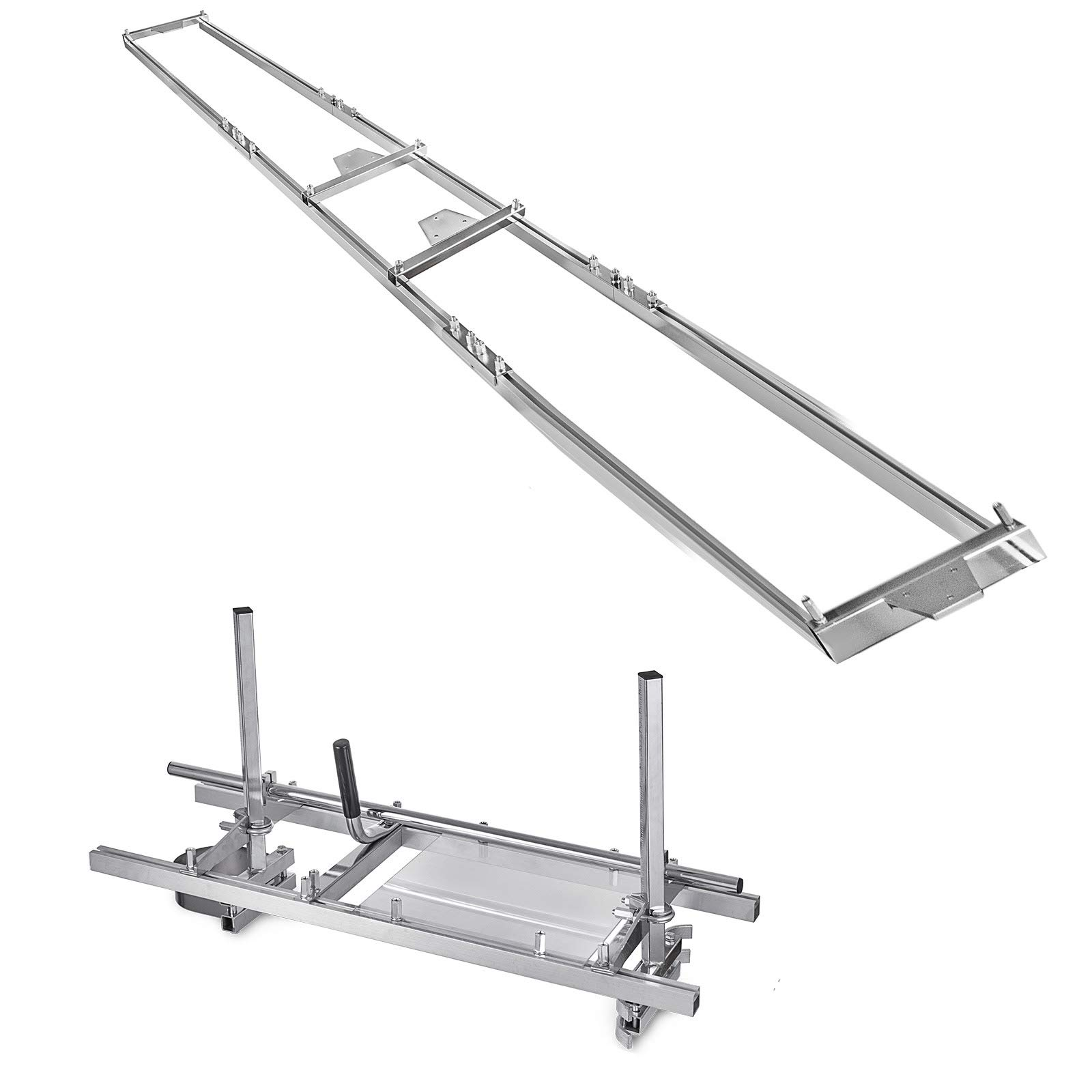 SHZOND 14''-36'' Chainsaw Mill and Milling Rail System Aluminum Steel Rail Mill Guide System (Rail Mill Guide System)