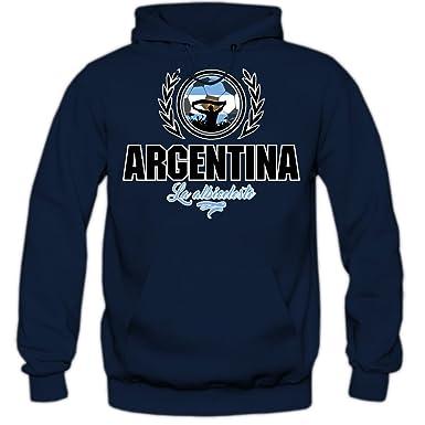 Shirt Happenz Fútbol Argentina V2 Sudadera con Capucha | Hombre | Fútbol | Equipo Nacional |