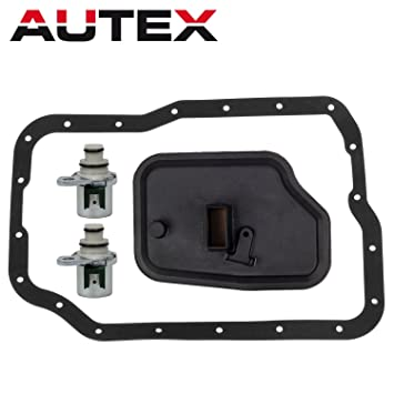 AUTEX Shift Solenoid Transmission Filter Kit 4F27E 1999+ Compatible With  Ford Focus/Mazda 3 & 6 & CX-7/Mercury Milan XS4Z-7H184-AA