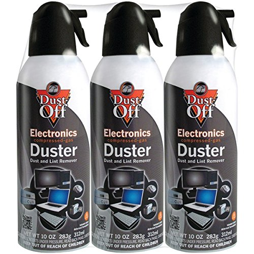 Falcon Compressed Gas (152a) Disposable Cleaning Duster 3 Count, 10 oz. Can (DPSXL3) by Dust-Off