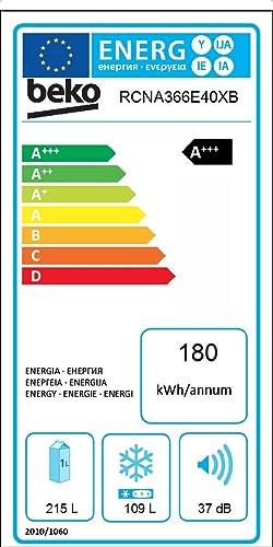 Beko RCNA366E40XB nevera y congelador Independiente Acero ...