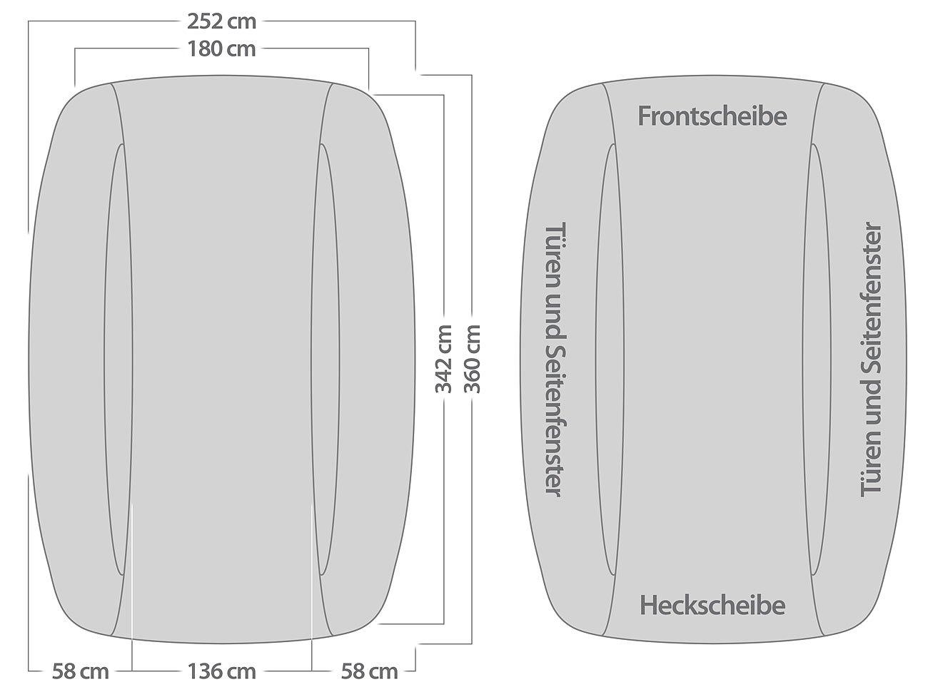 PEARL premium and ben demi housse de protection voiture-mittelklasse 330 x 148 x 40 cm