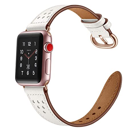 Bracelet Apple Watch 40mm,Bracelet Femme Apple Watch 3 38mm en Cuir Bracelet Apple Watch