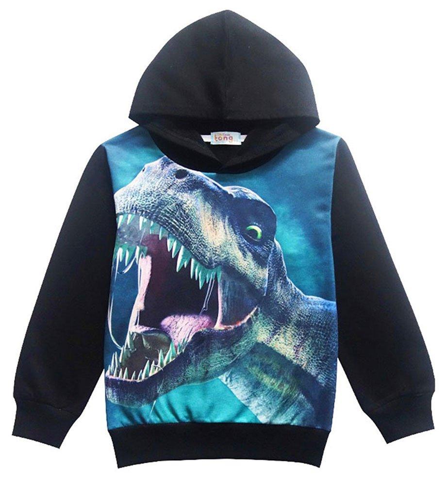YIPWIN Boys Dinosaur Hoodie Pullover Sweatshirt Kids Halloween Hoodies Long Sleeve T Shirt Tops 3T