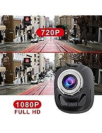 accfly Dash Cam Vehículo DVR, HD 1080P coche dual, cámara trasera, 140 ° Gran Angular, visión nocturna, grabación de bucle, detección de movimiento, G Sensor (estilo 2) con ldws & fcws, estilo3