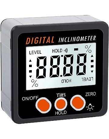 Lorsoul Ángulo 360º del inclinómetro del prolongador Digital, electrónica Bisel Caja ángulo del Metro del