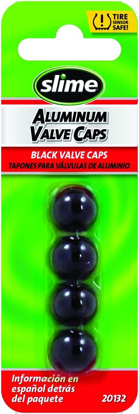 Slime 20132 Custom Series Black Anodized Valve Caps
