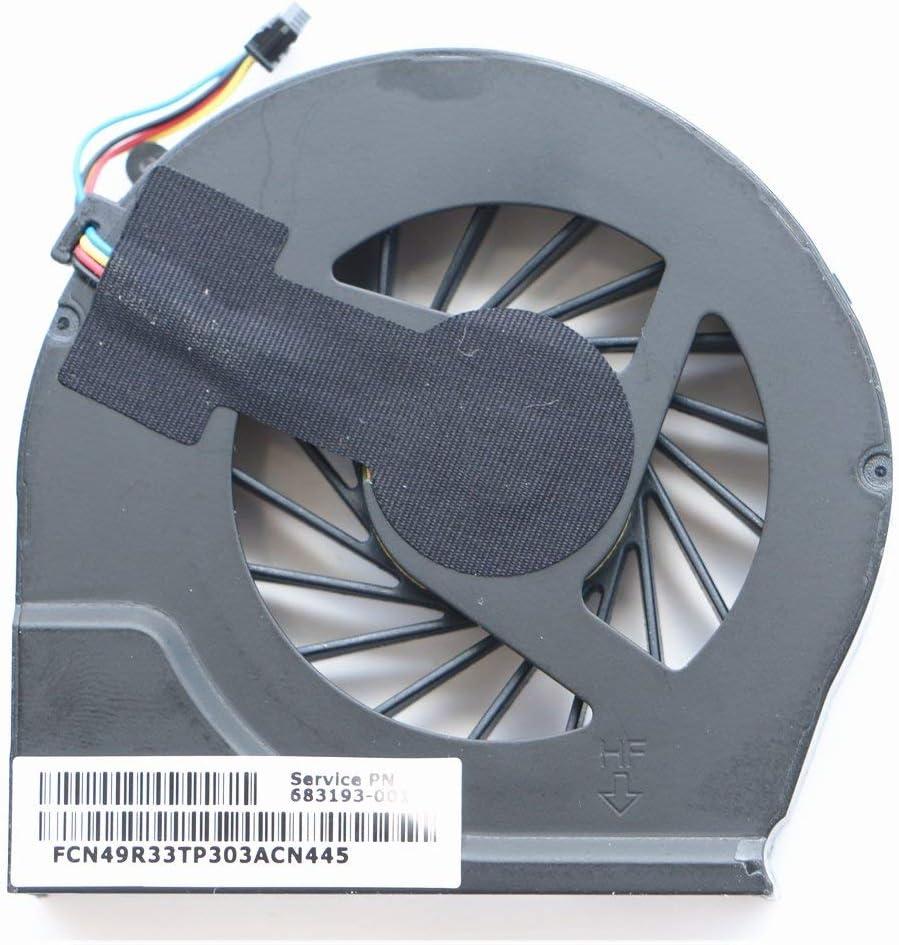 Laptop Cooler Fan for HP G4-2000 G6-2000 G7-2000 G4-2045TX G4-2006AX G6-2143TX G6-2147TX G6-2101ax G6-2117tx G6-2122tx G6-2123us G6-2328tx G6-2045X TPN-Q109 TPN-Q110 CPU Cooling Fan 683193-001