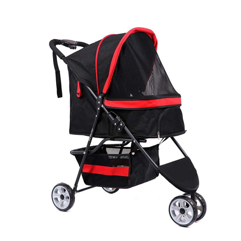 A Lozse Pet Stroller Dog Pushchair The dog goes out the cart, a tricycle, a button Guanche