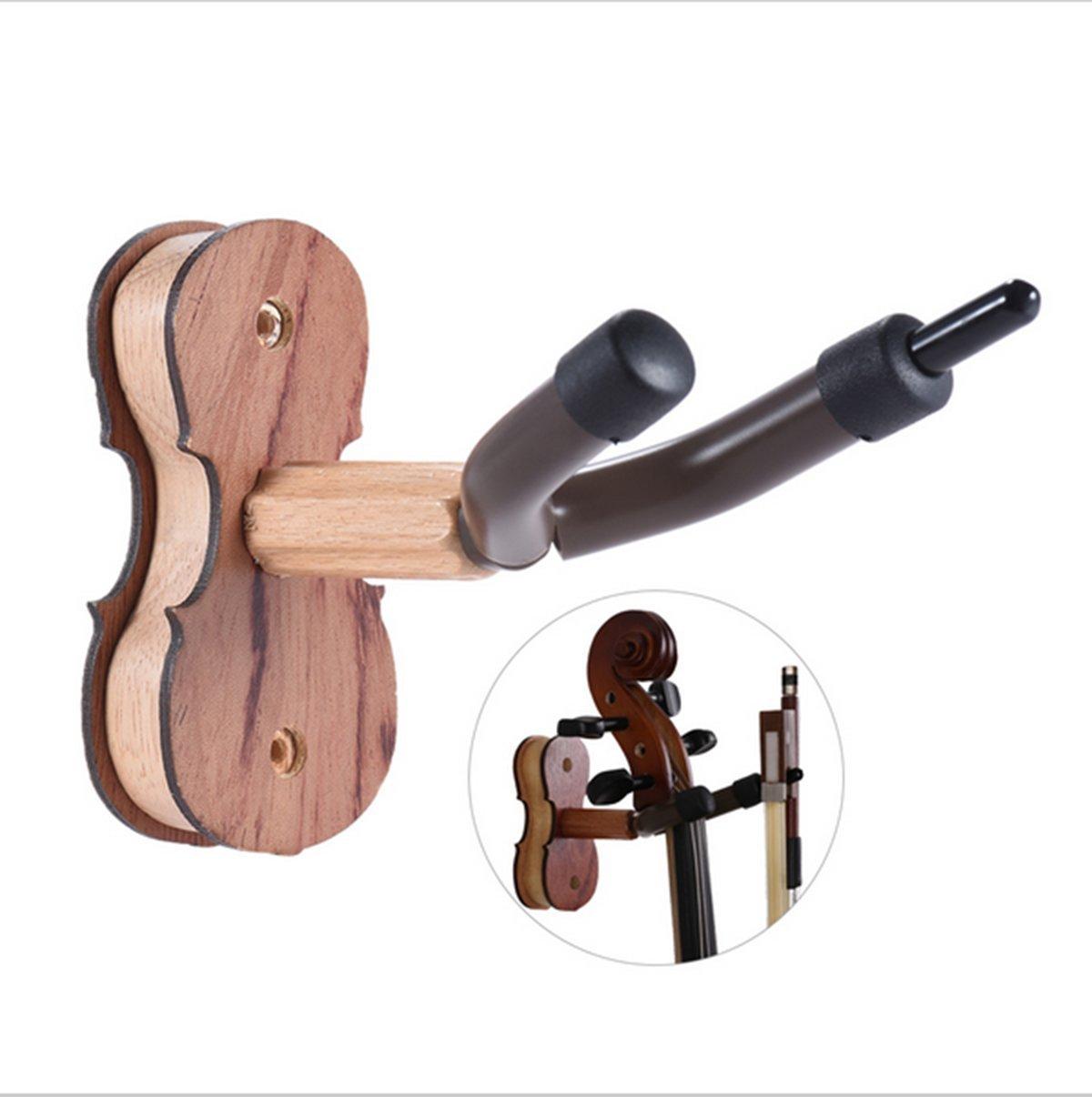 Violin Hanger With Bow Hanger,Violin Hardwood Home and Studio Wall Hanger,Wall Mount Hanger Holder Rack Stand For Violin/Viola 10800155