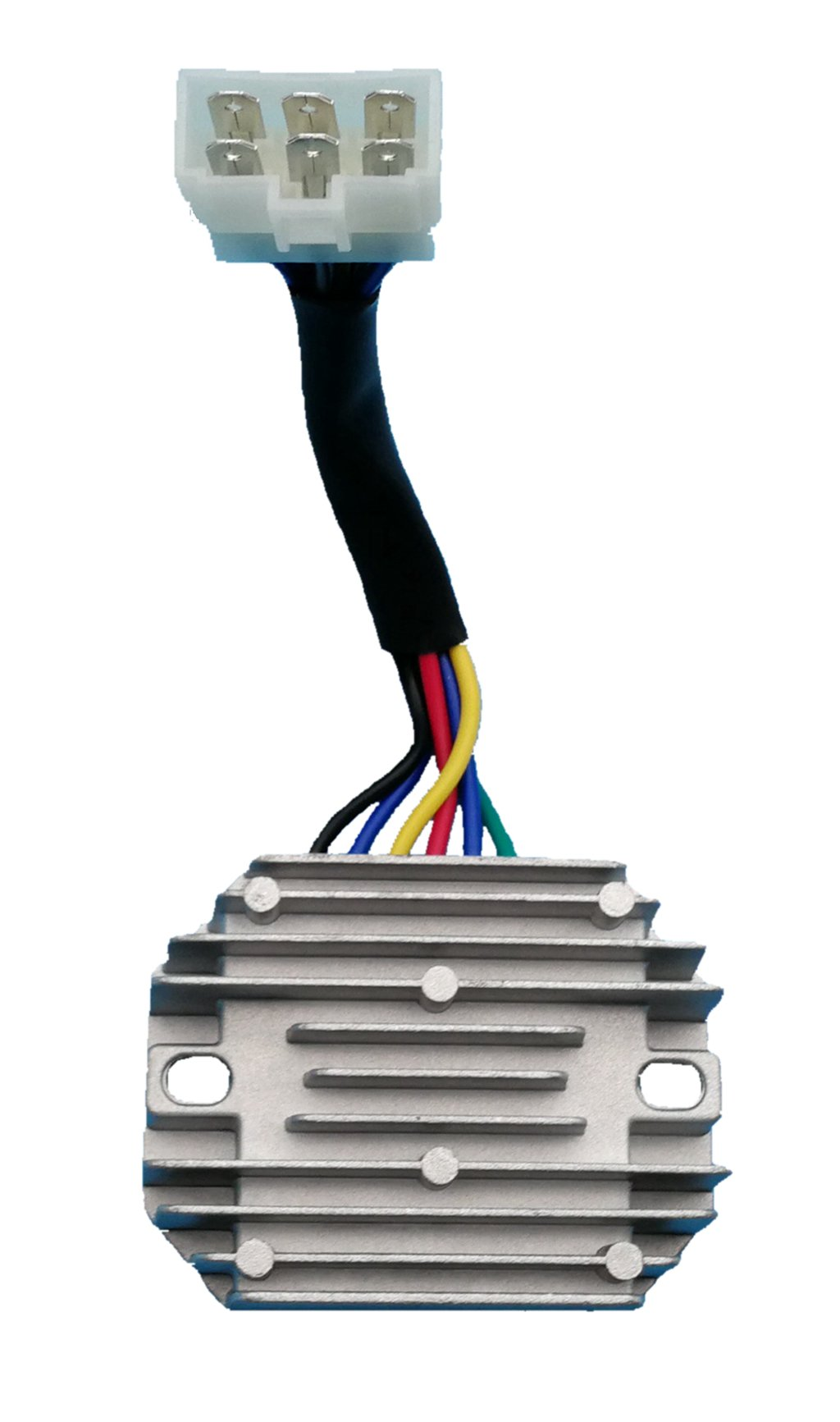 Tuzliufi Voltage Regulator Replace Kubota Grasshopper RS5101 RS5155 Replace 15351-64600 15351-64601 15531-64603 19267-64600 RP201-53710 Gh5530 230-22017 UTV RTV500 1822D 718D 721D 721G Tractor New Z21