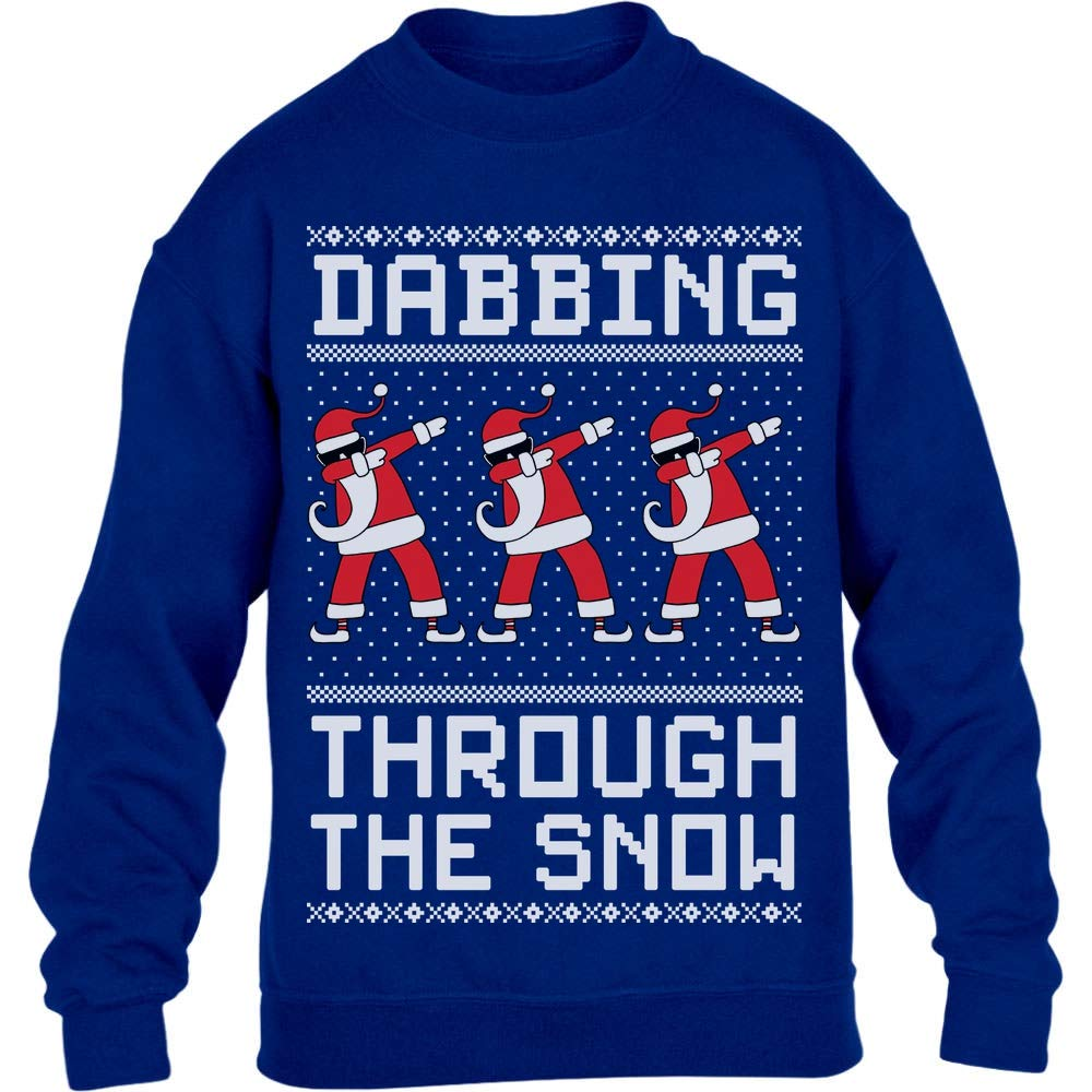Regalo per Natale Maglia Uomo Manica Lunga Shirtgeil Dabbing Through The Snow