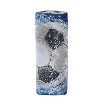 Estuche cilíndrico con forma de bola de fútbol con gotas de ...
