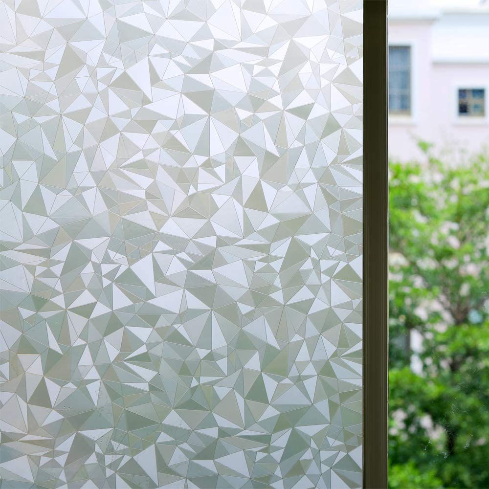 Bloss Vinyl Static Cling Cut Glass Window Decals Decorative Privacy Window Film 17.7