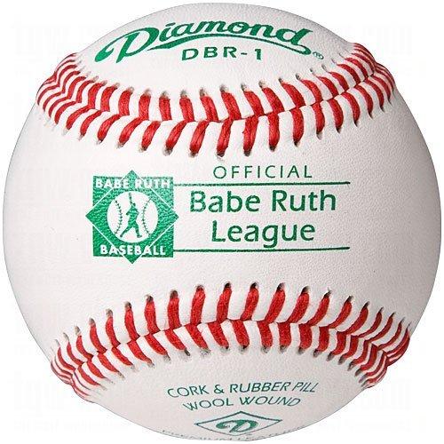 Diamond DBR-1 Babe Ruth League Leather Baseballs 12 Ball Pack
