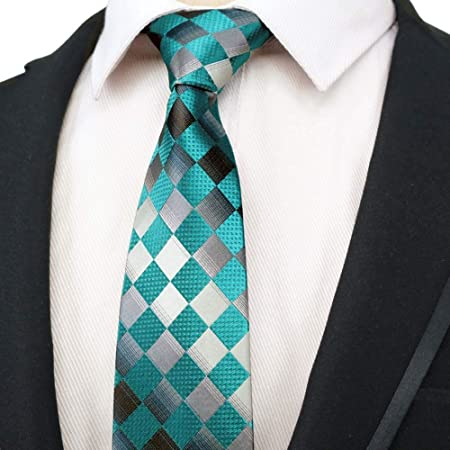QEHWS Corbata Hombres Corbatas Poliéster Mancha Varias Rayas ...