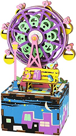 La Vida en Led DIY Caja de Música Noria Maqueta Puzzle 3D: Amazon.es: Juguetes y juegos