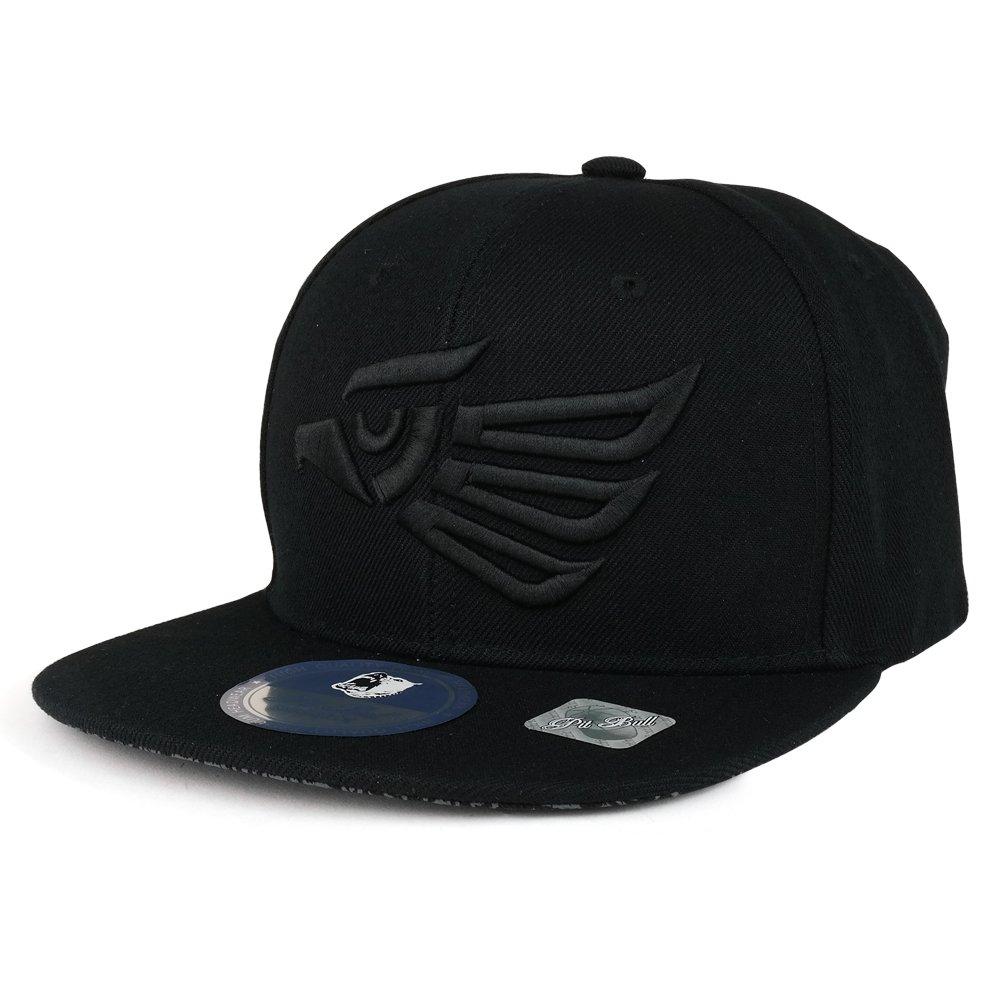 84c65285f4b Trendy Apparel Shop Hecho En Mexico Eagle 3D Embroidered Snapback Cap -  Black Black