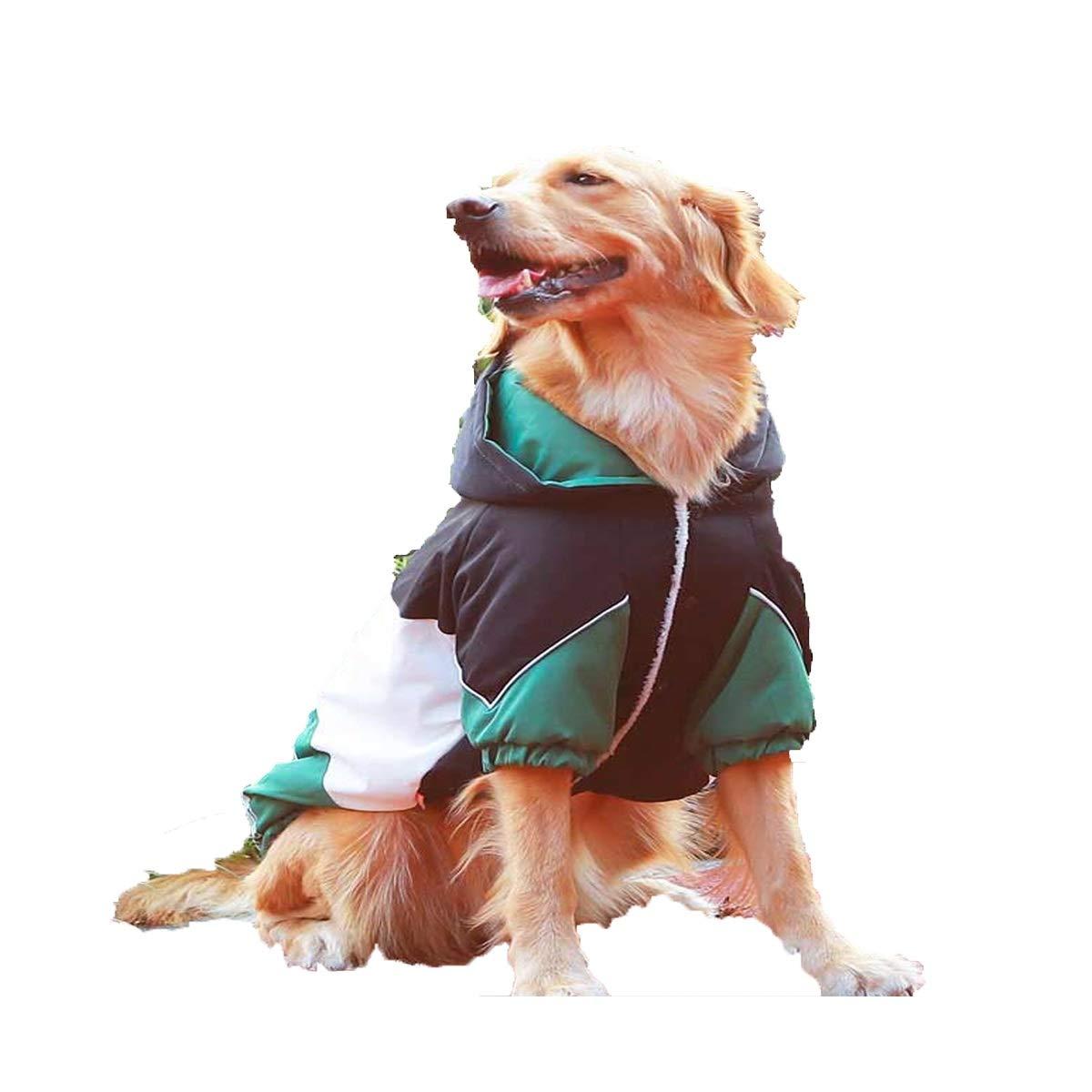 Dog Clothing, golden Retriever, Samoyed, Shiba Inu, Corgi, Labrador, Medium to Large Dogs, Thickened Autumn and Winter Clothing (color   bluee, Size   3XL)