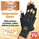 Copper Hands Compression Gloves for Arthritis Size Large/XLarge As Seen on TV (1 Pair)