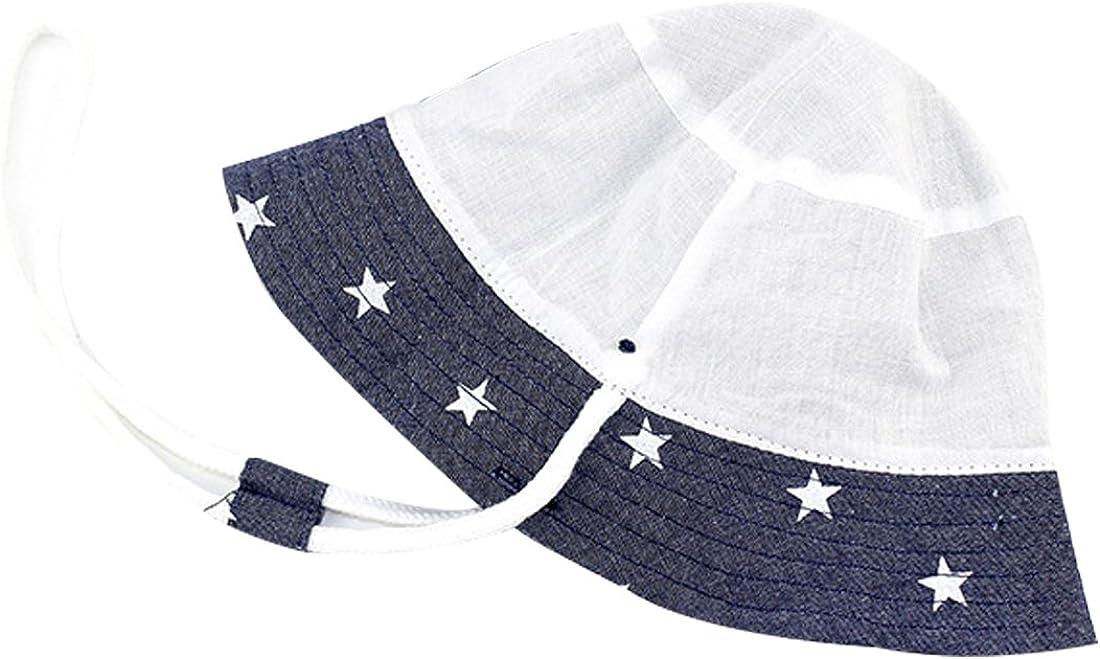 RUHI Baby Sun Hat UPF 50 Bucket Hat with Chin Strap Adjustable Fishman Cap