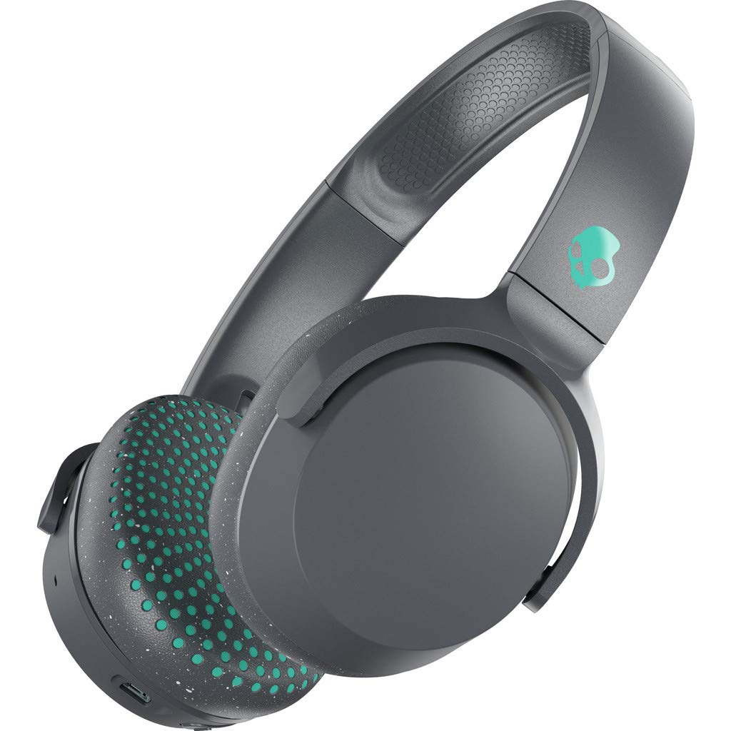 Skullcandy Riff Wireless On-Ear Headphones with Microphone, Bluetooth Wireless, Rapid Charge 10-Hour Battery Life, Foldable, Plush Ear Cushions with Durable Headband, Gray/Speckle/Miami by Skullcandy