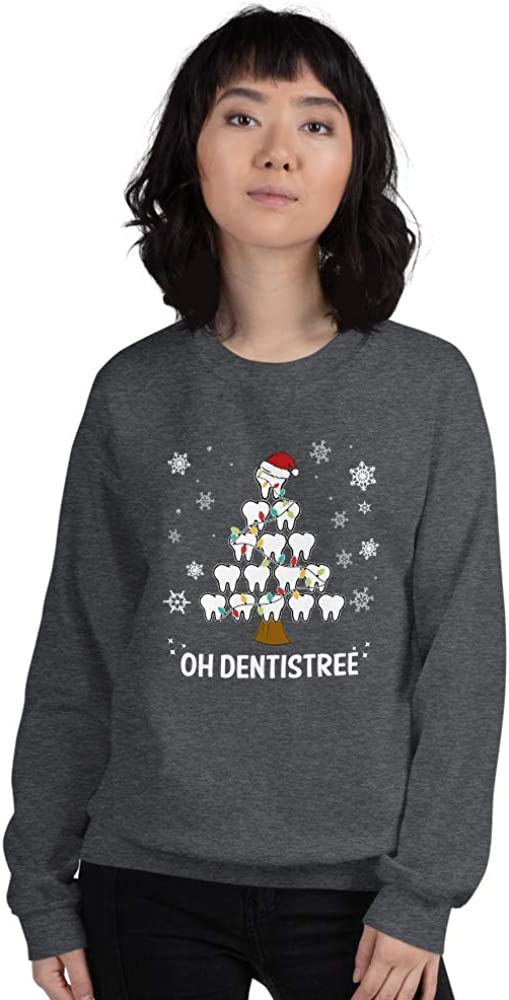Unisex Oh Dentistree Sweater//Dentistry Christmas//Dentist//Tooth Xmas Tree//Gifts Dentists//Dental Hygienist