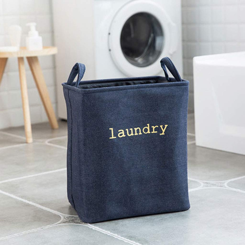 Laundry Basket | Basket Large | Collapsible (Color : Navy) by Laundry Basket (Image #3)