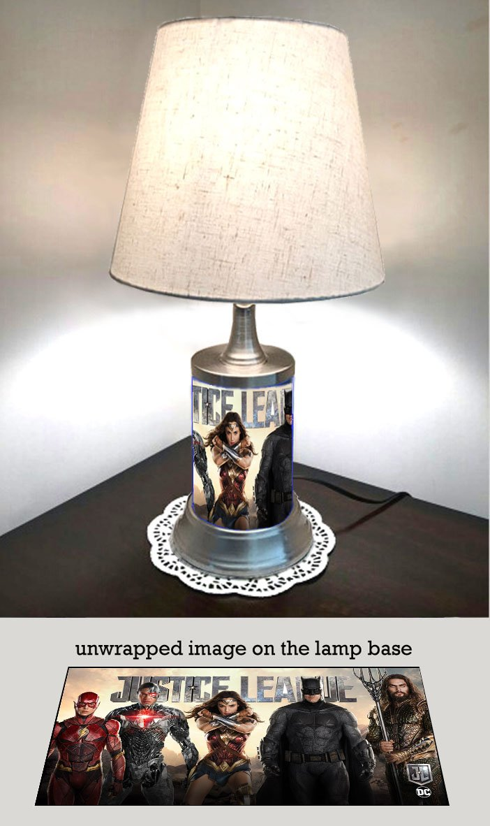 Justice League Lamp with Shade, Movie