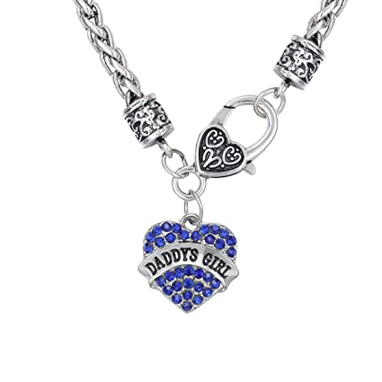 feb219513 Buy Daddy's Girl Crystal Heart Pandent Necklace Best Dad Daughter Father's  Day Gifts Jewelry (Blue) Online at Low Prices in India - Amazon.in