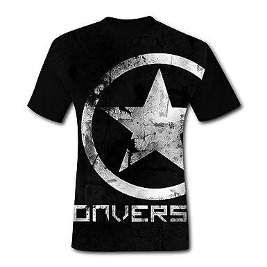 c2608bca02499 Amazon.com: The Fashion Of Mens T-Shirts The Star Logo Converse 3D ...