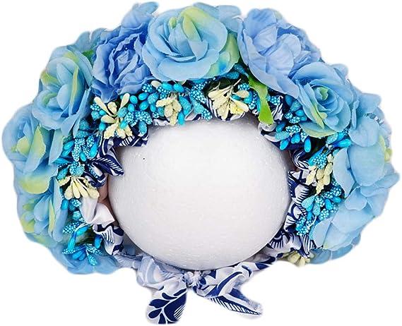 beige lace bunny hat floral headpiece sitter bunny bonnet UK seller Vintage bunny flower bonnet Sitter Photo Prop