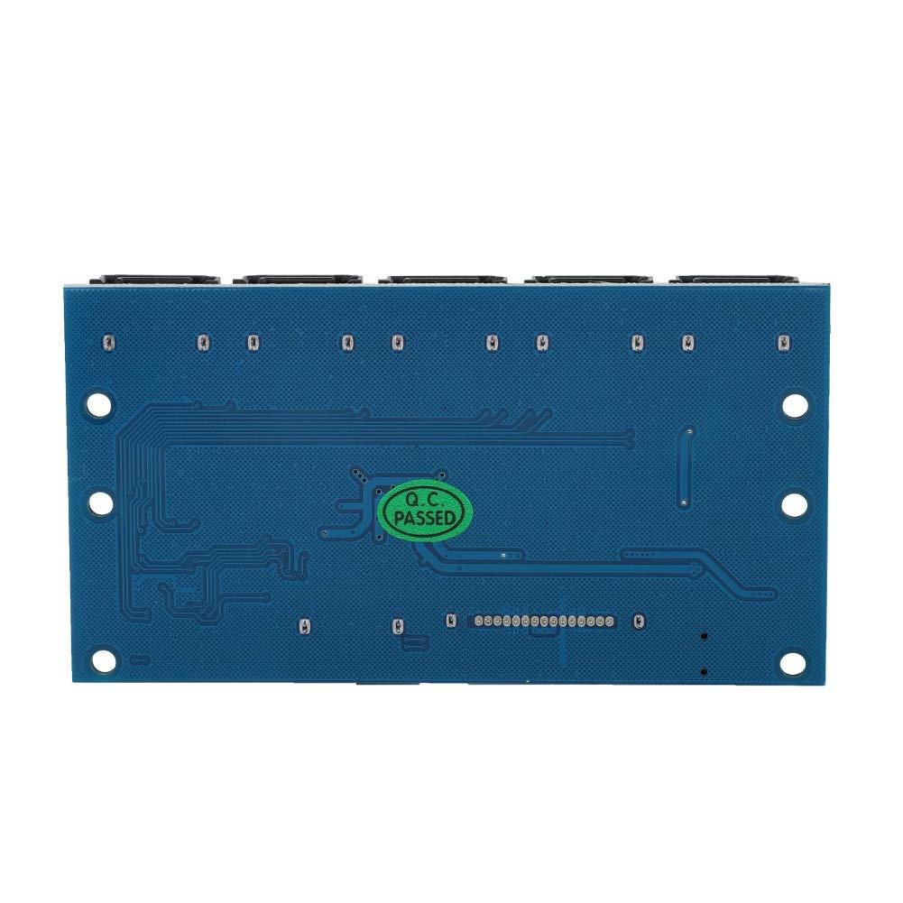 Zerone SATA3.0 1 to 5 Hub Ports SATA Port Splitter Swith Multiplier Card Motherboard 6Gbps Riser Card SATA 3.0 Expansion Card Support PM JMICRON JMB575