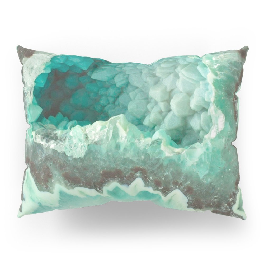 Society6 Minty Geode Crystals Pillow Sham Standard (20'' x 26'') Set of 2