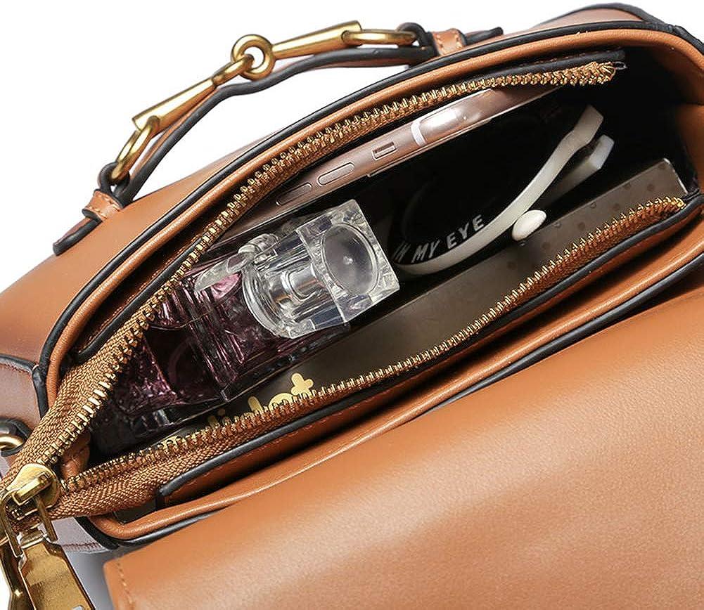 Onzama Women Designer Shoulder Saddle Bag Fashion Purses Vintage Crossbody Handbag for Girls
