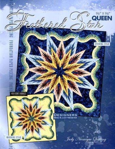 Feathered Star Foundation Paper Pieced Judy Niemeyer Queen Quilt Pattern by Judy Niemeyer