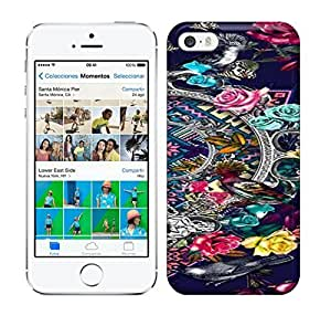 Best Power(Tm) HD Colorful Painted Watercolor The Different Of Flowers Around The Two Birds Hard Phone Case For Iphone 5/5S