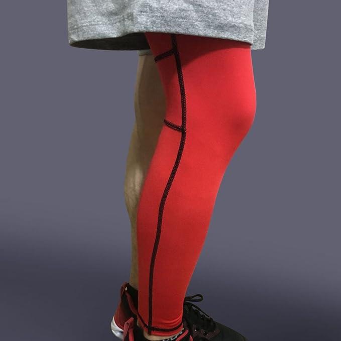 Knieschoner Leggings Ärmel Long Laufen Bewegung Hip Atmungsaktiv(1 ...