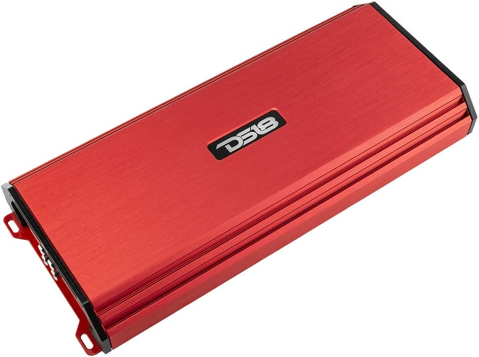 DS18 S-1800.4/RD Car Audio Amplifier – 4 Channel, Full Range, Class AB, 1800 Watts (Red)