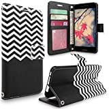 HTC One A9 Case, HTC Aero Case, Cellularvilla [Stand Feature] Zig Zag Pattern Chevron Design Premium Pu Leather Wallet Card Slots Flip Case Cover For HTC One A9 / HTC Aero (Black Chevron)