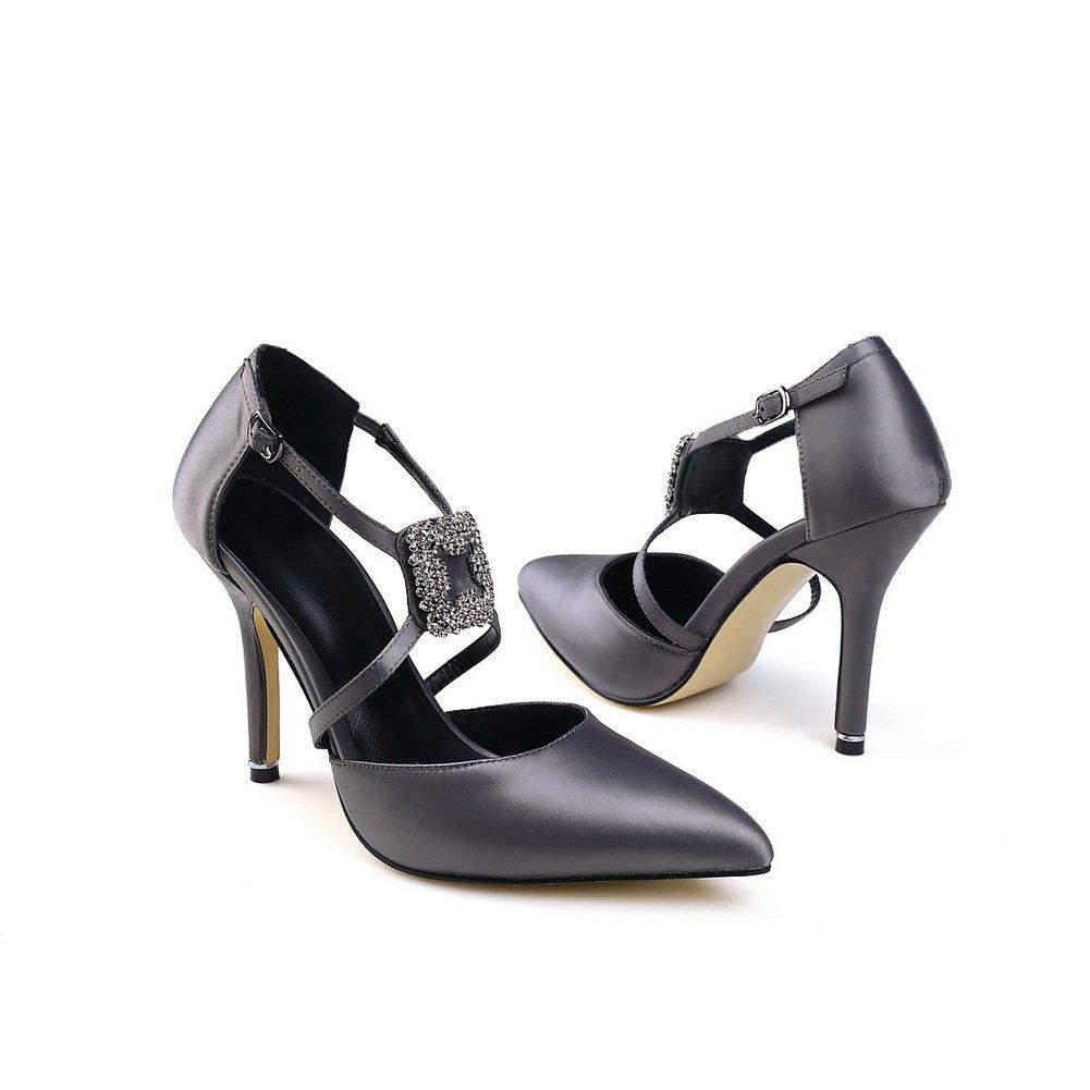 AdeeSu Womens Shoes Closed-Toe Pointed-Toe Urethane Pumps Shoes SLC03531