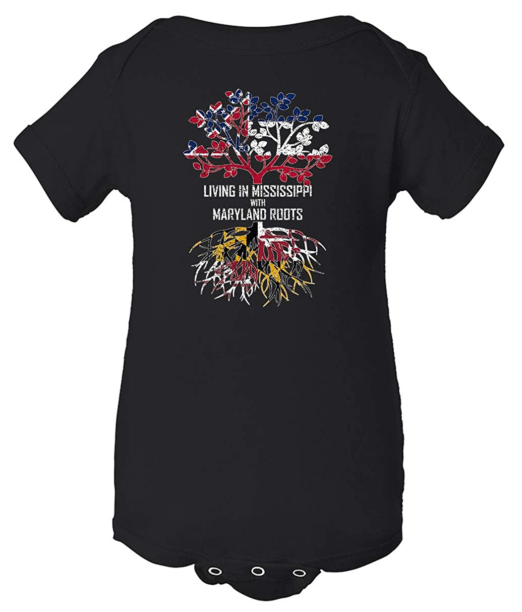 Tenacitee Babys Living in Mississippi Maryland Roots Shirt
