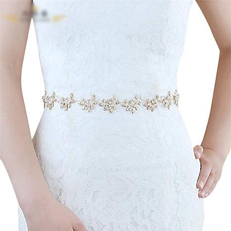 Yhui Cinturón de Moda para Mujer, cinturón de Boda Largo, Falda de ...