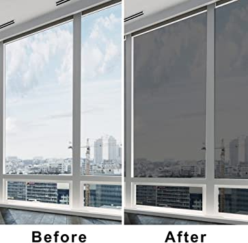 fancy-fix Lámina de Control Solar para Ventana Cristal Transparente Autoadhesivo Láminas de Protección Solar Protección UV 76cm x 300cm Color Marrón: Amazon.es: Hogar